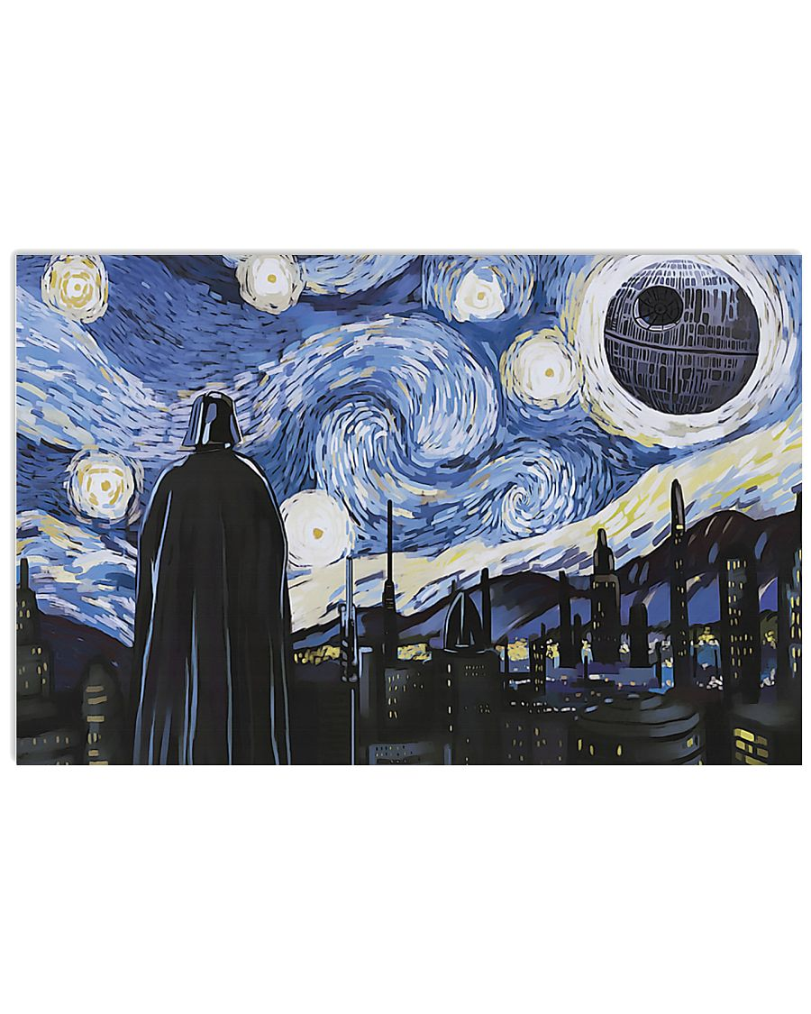Vincent van gogh the starry night darth vader and death star poster 1