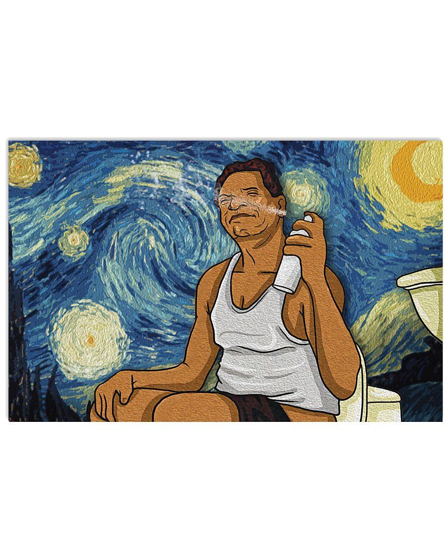 Vincent van gogh the starry night friday bathroom scene poster 2