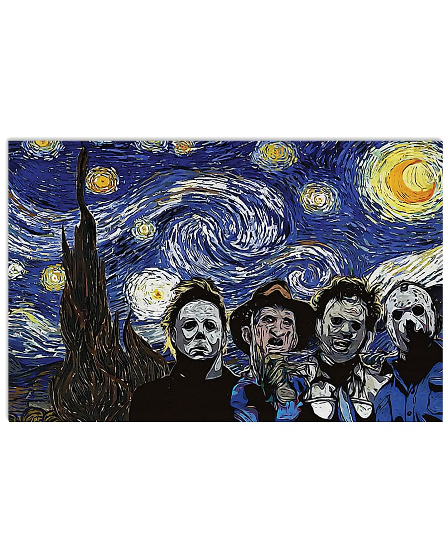Vincent van gogh the starry night horror killers poster 2