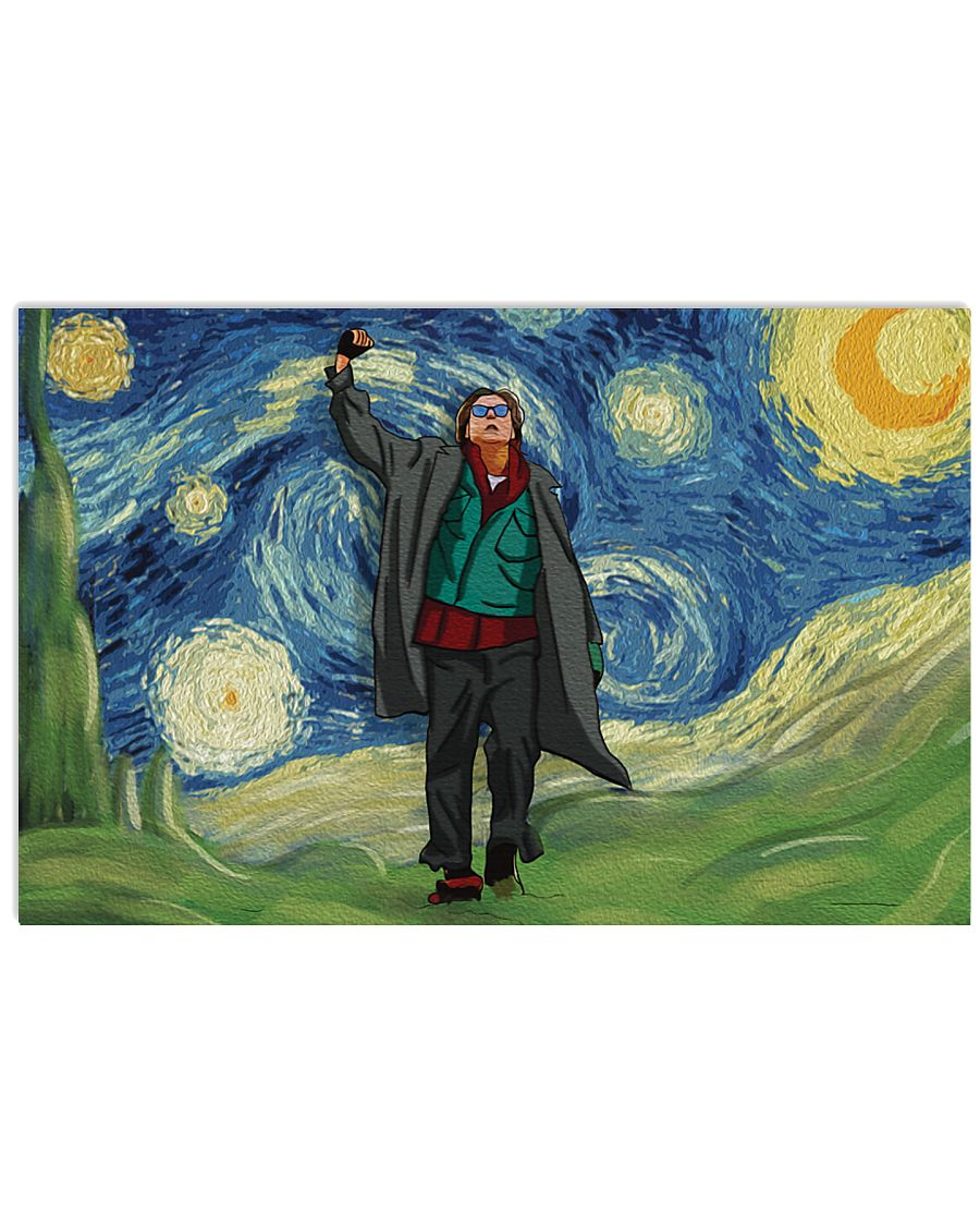 Vincent van gogh the starry night john bender the breakfast club poster 1