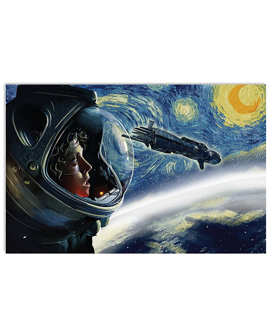 Vincent van gogh the starry night monster alien poster 1