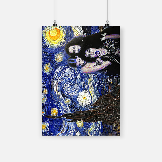 Vincent van gogh the starry night rocky horror picture show poster 2