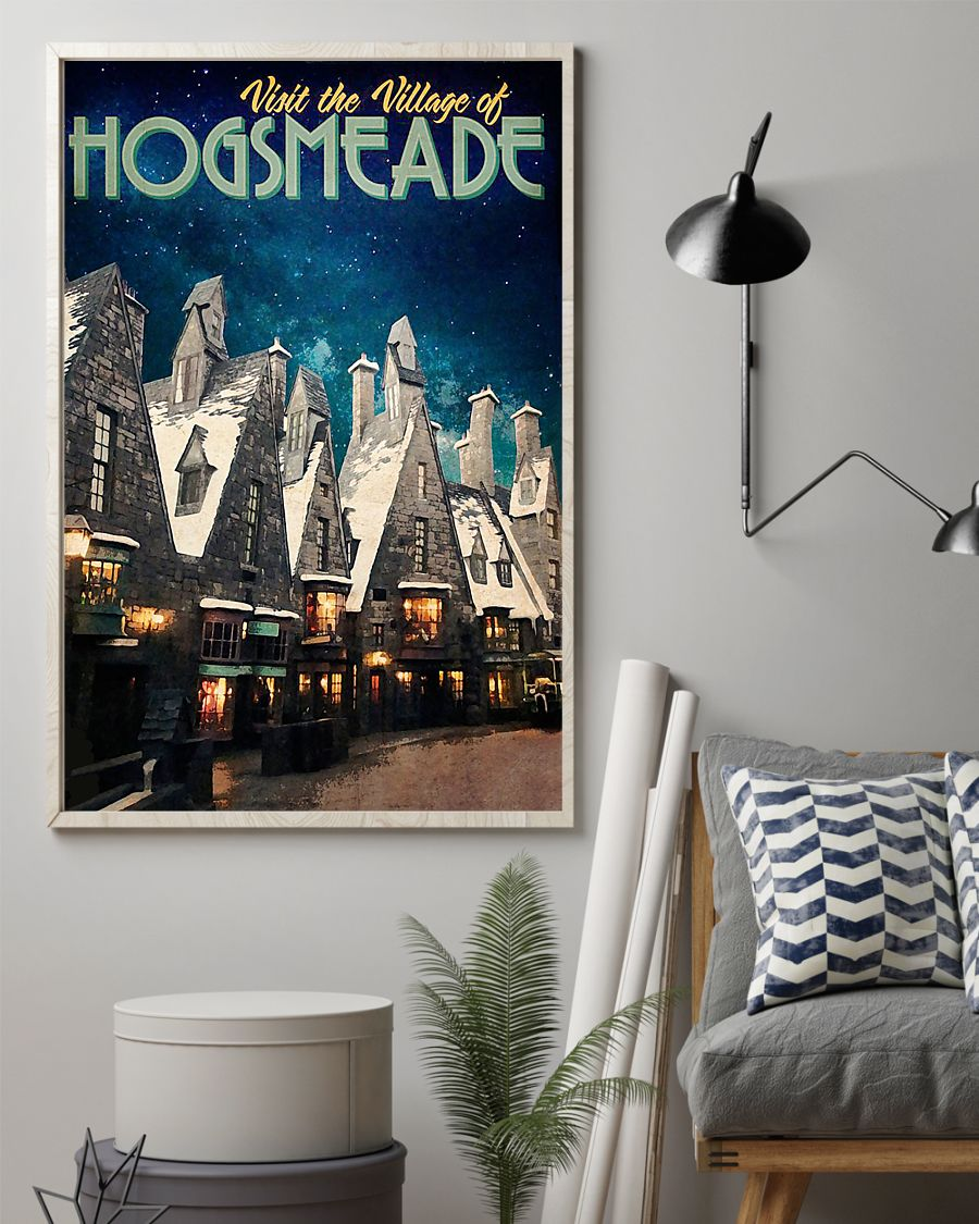 Visit the village hogsmeade retro poster 2