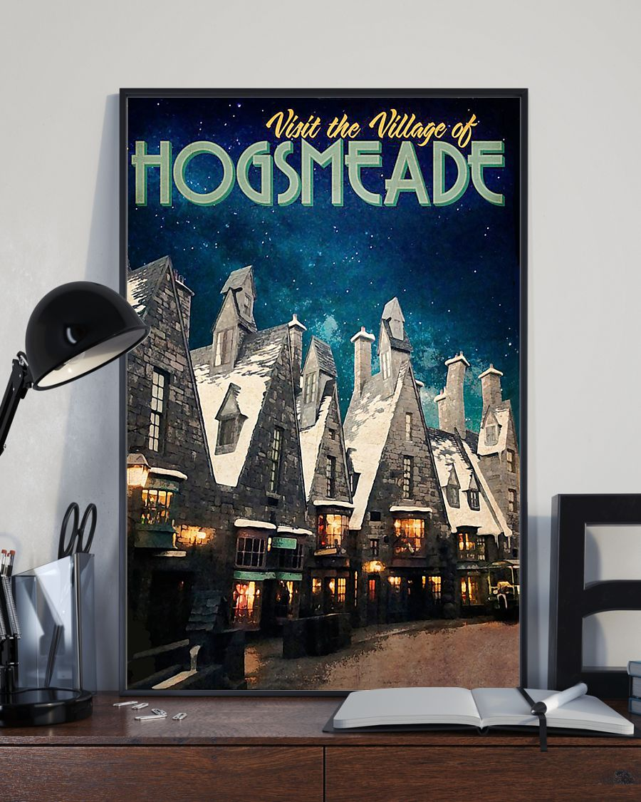 Visit the village hogsmeade retro poster 3