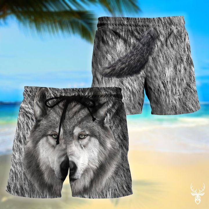 Wolf hawaiian shorts 1