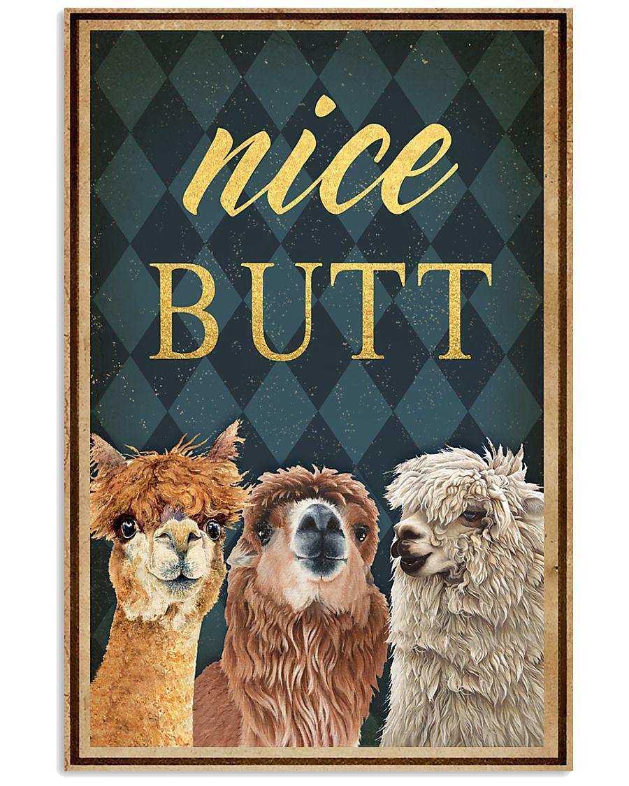Alpaca nice butt vintage poster 1