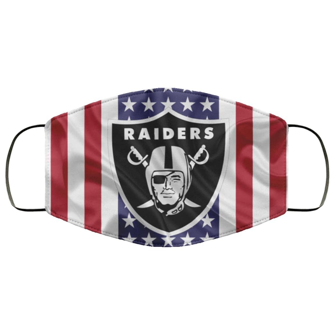 American flag oakland raiders full printing face mask 1