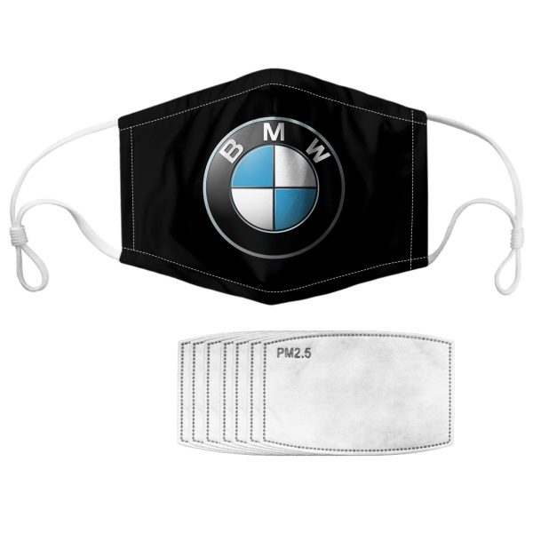 BMW symbol all over printed face mask 4