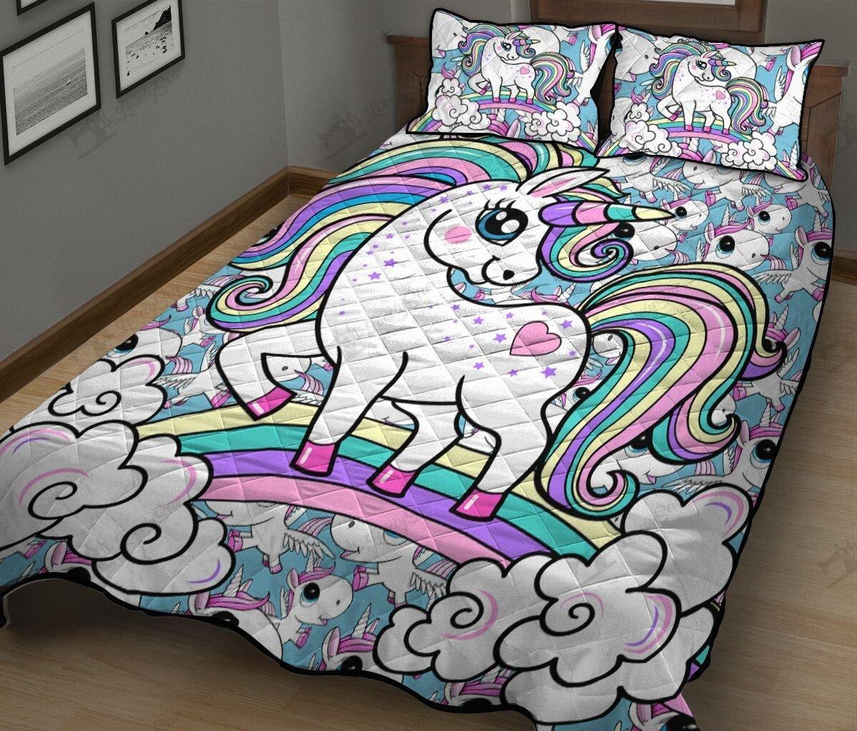 Baby unicorn full printing quilt 4