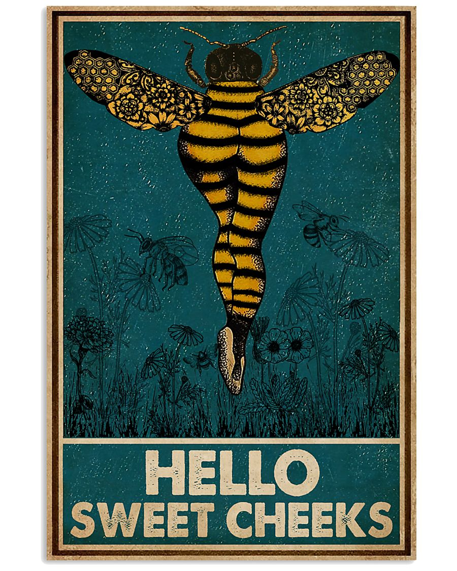 Bee hello sweet cheek vintage poster 1