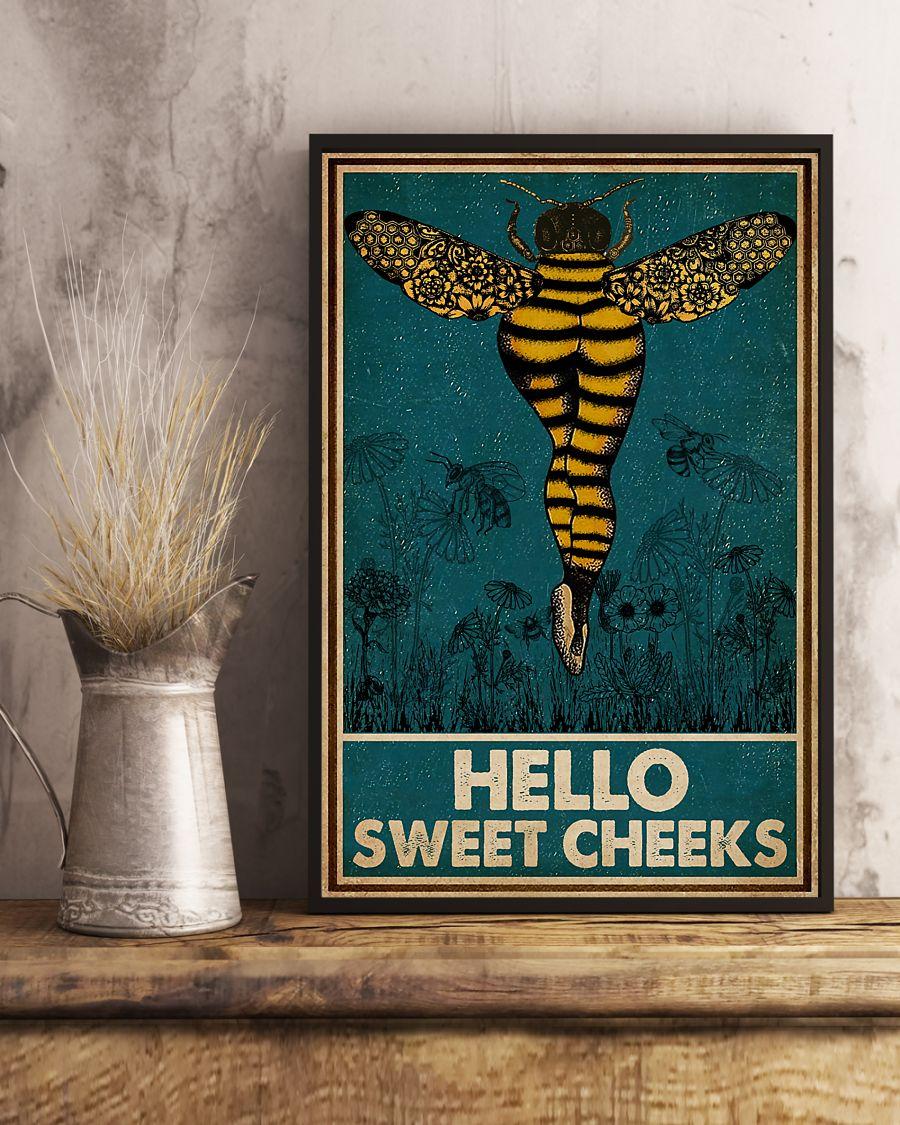 Bee hello sweet cheek vintage poster 2