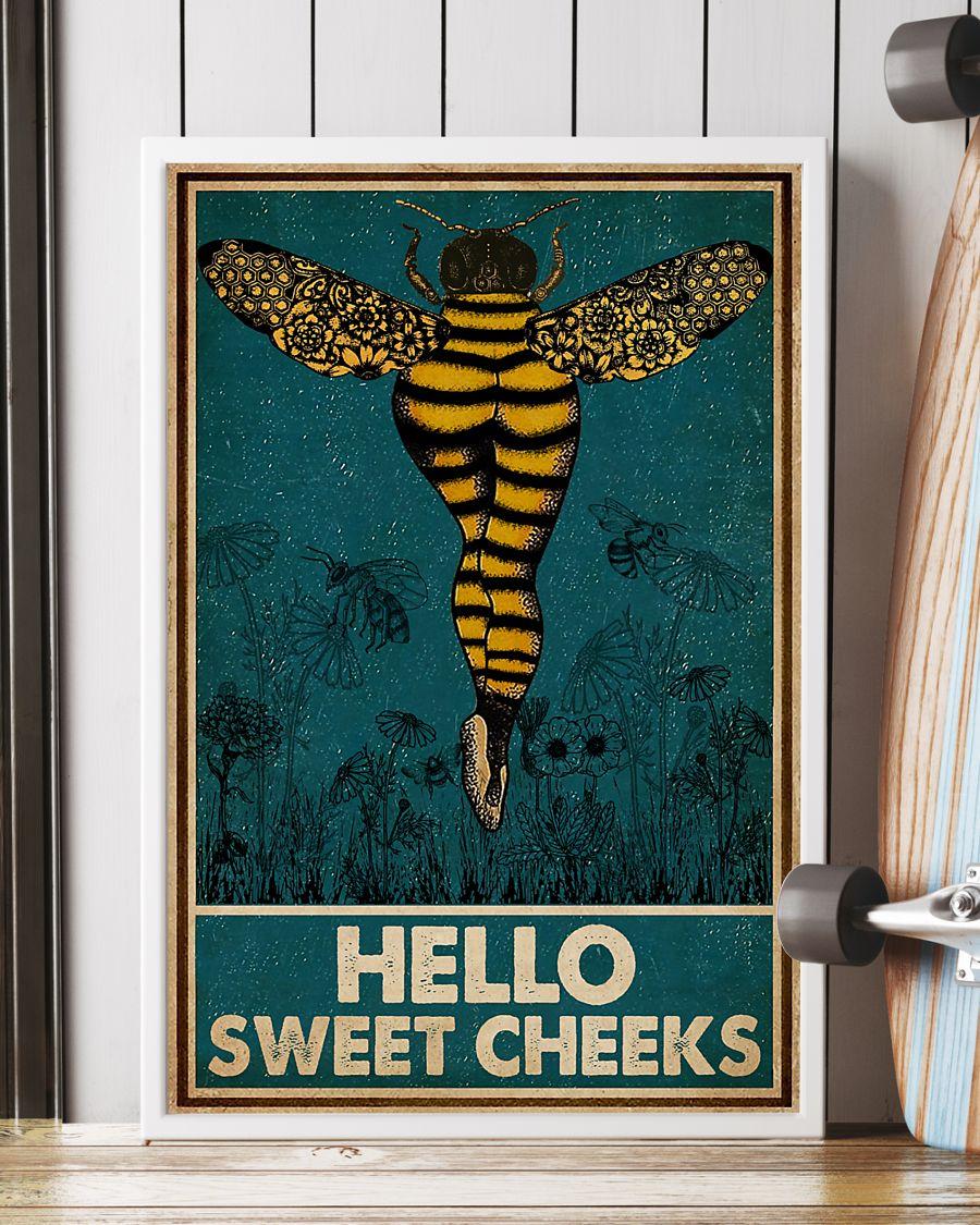 Bee hello sweet cheek vintage poster 3