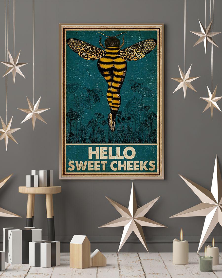 Bee hello sweet cheek vintage poster 4