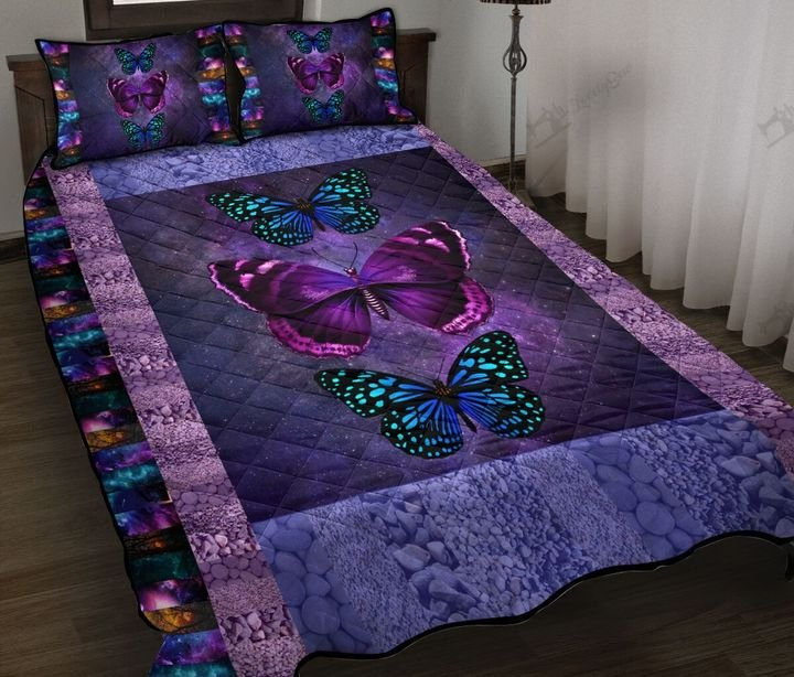 Butterfly galaxy full printing quilt 1