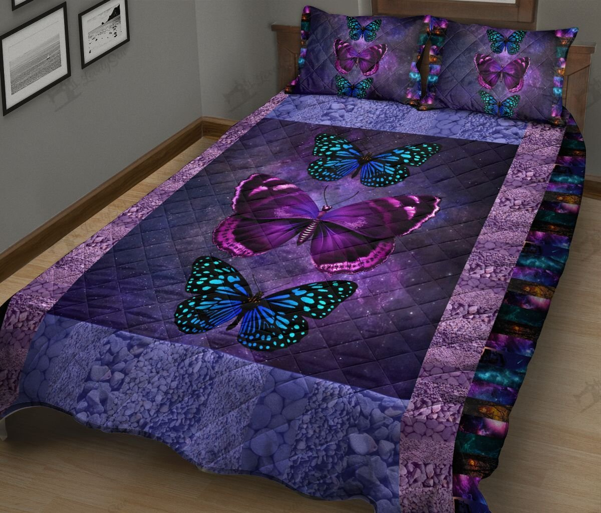 Butterfly galaxy full printing quilt 3