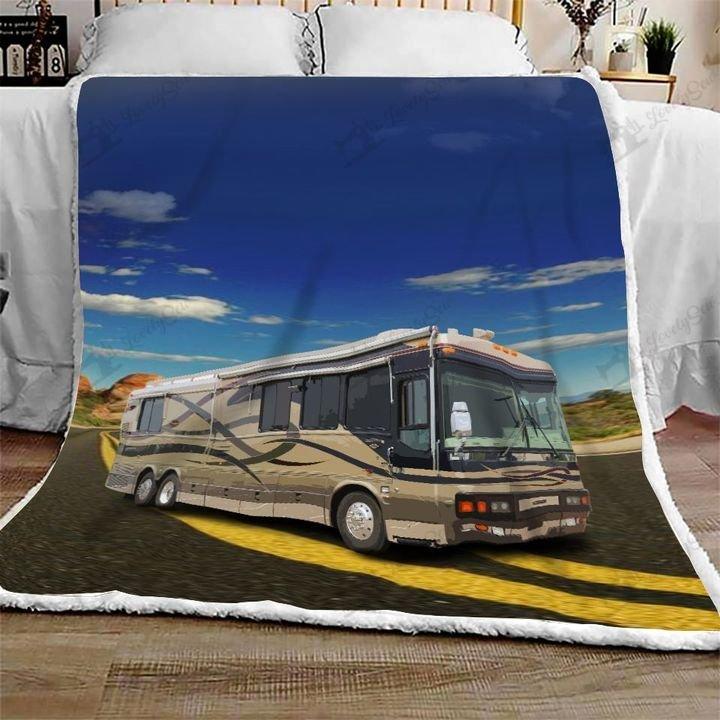Camping rv camp life full printing blanket 1