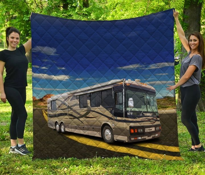 Camping rv camp life full printing quilt 4