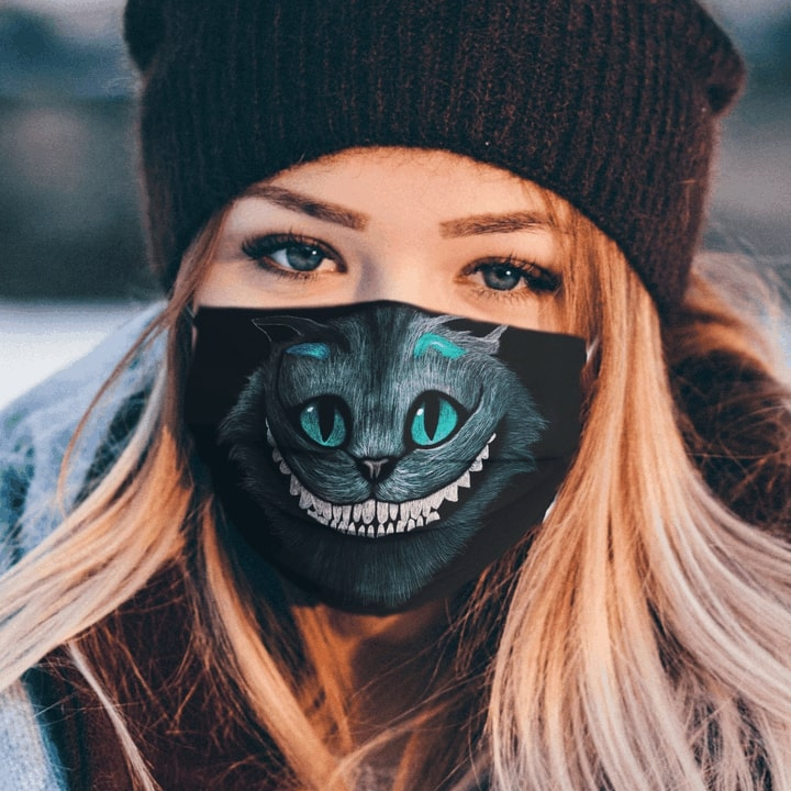 Cheshire cat anti pollution face mask 1