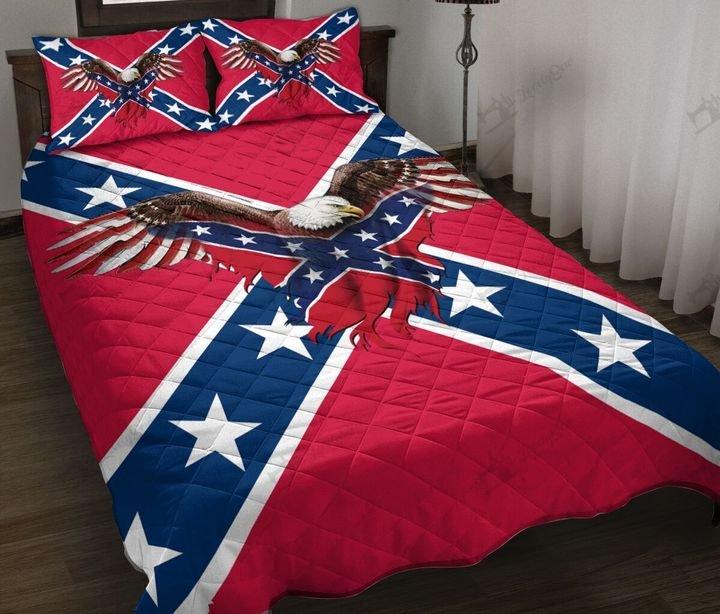 Confederate states of america flag full printing quilt 2