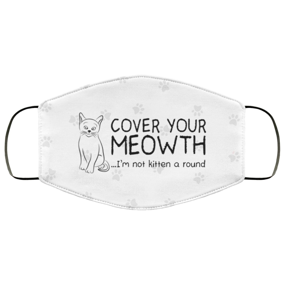 Cover your meowth im not kitten around all over printed face mask 4