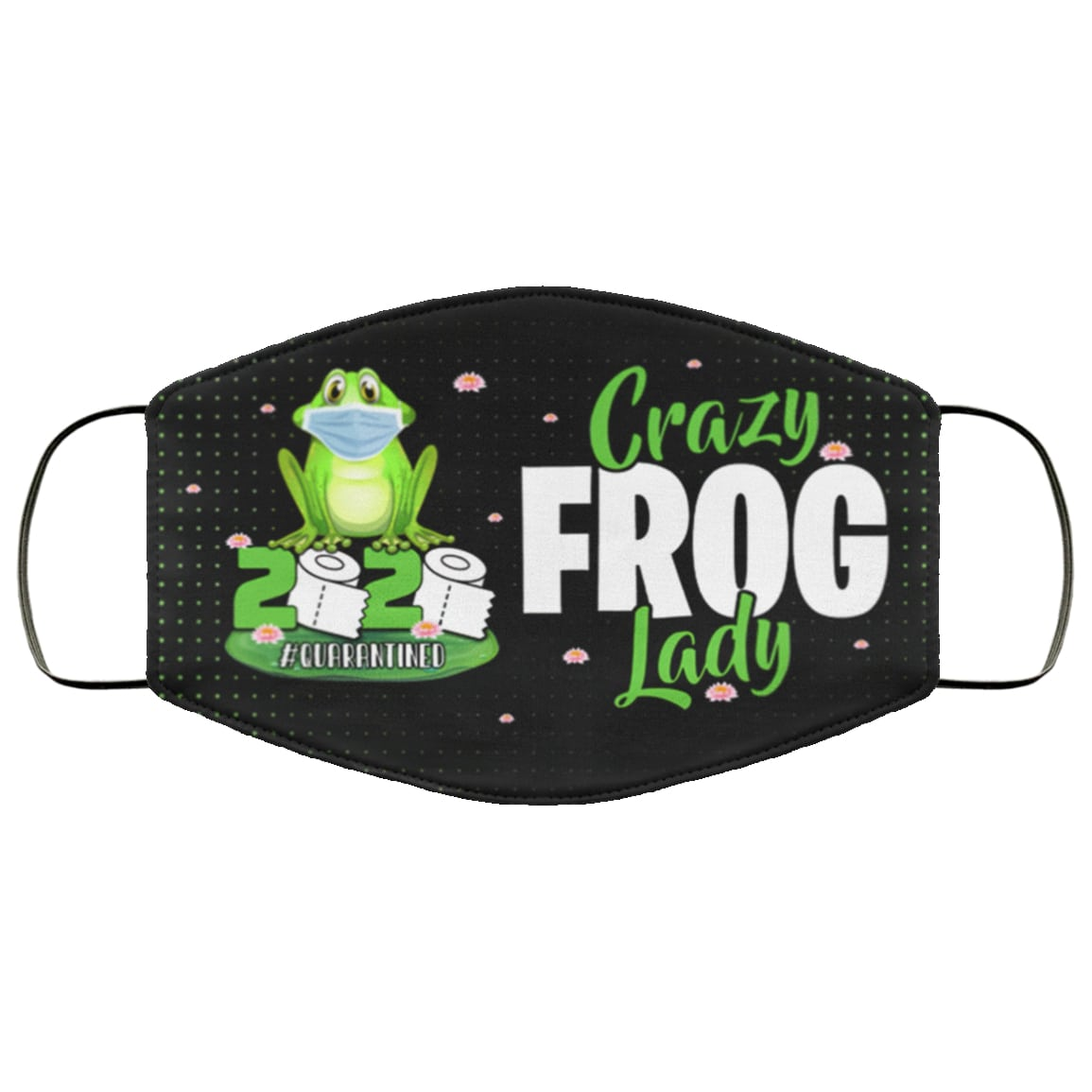 Crazy frog lady 2020 quarantined anti pollution face mask 1