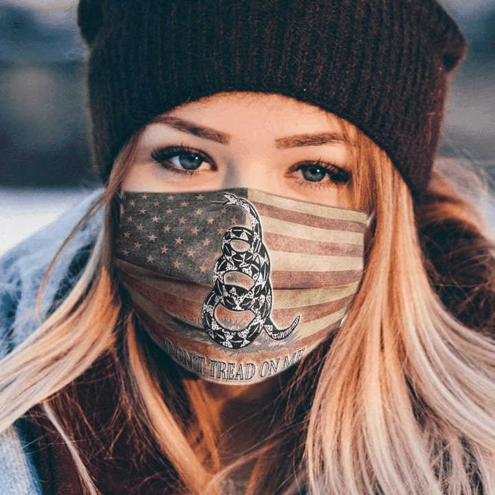 Don't tread on me gadsden flag anti pollution face mask 2