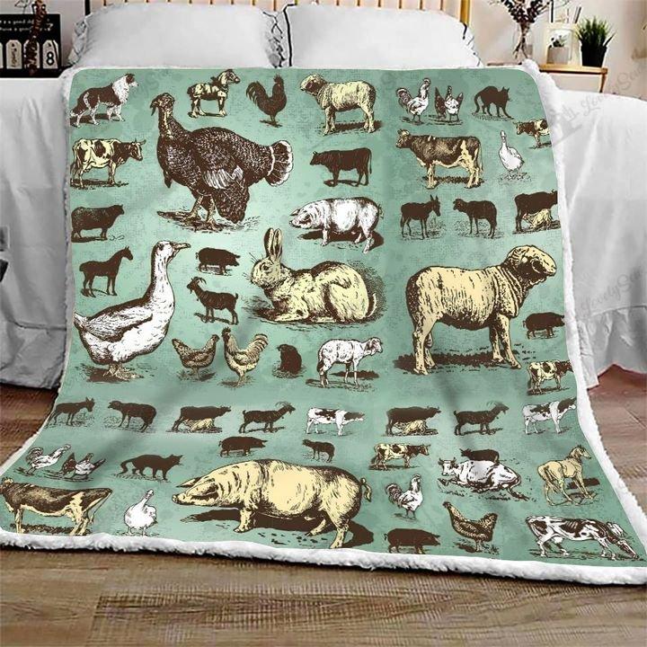 Farm animals full printing blanket 2