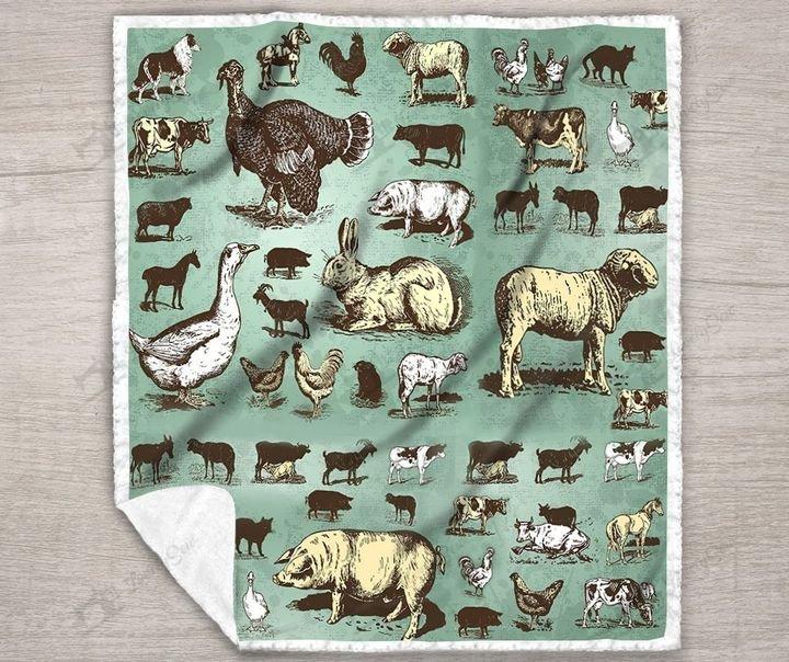 Farm animals full printing blanket 4