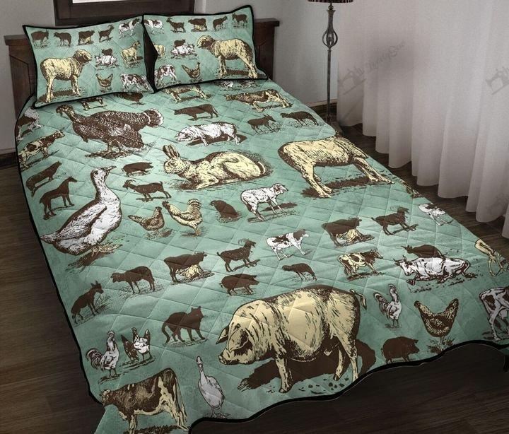 Farm animals full printing quilt 1