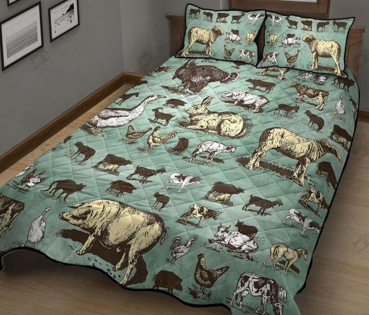 Farm animals full printing quilt 2