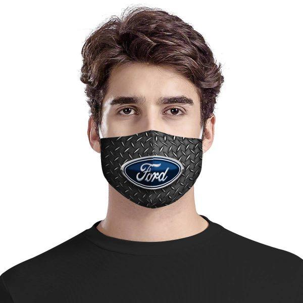 Ford logo car anti pollution face mask 3