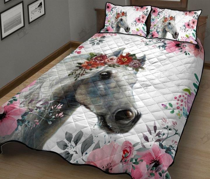 Horse flower full printing quilt 1