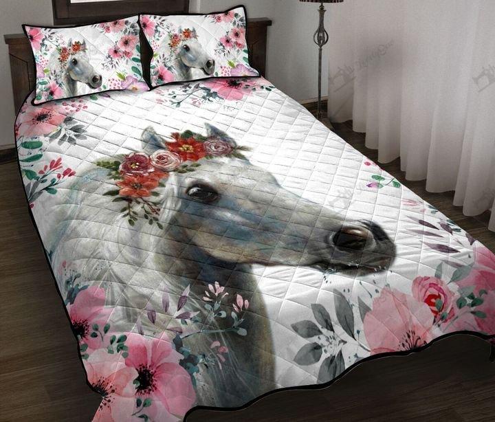 Horse flower full printing quilt 4