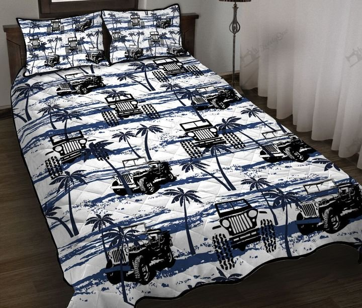 Jeep hawaiian full printing quilt 1