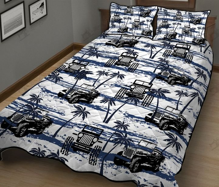 Jeep hawaiian full printing quilt 3