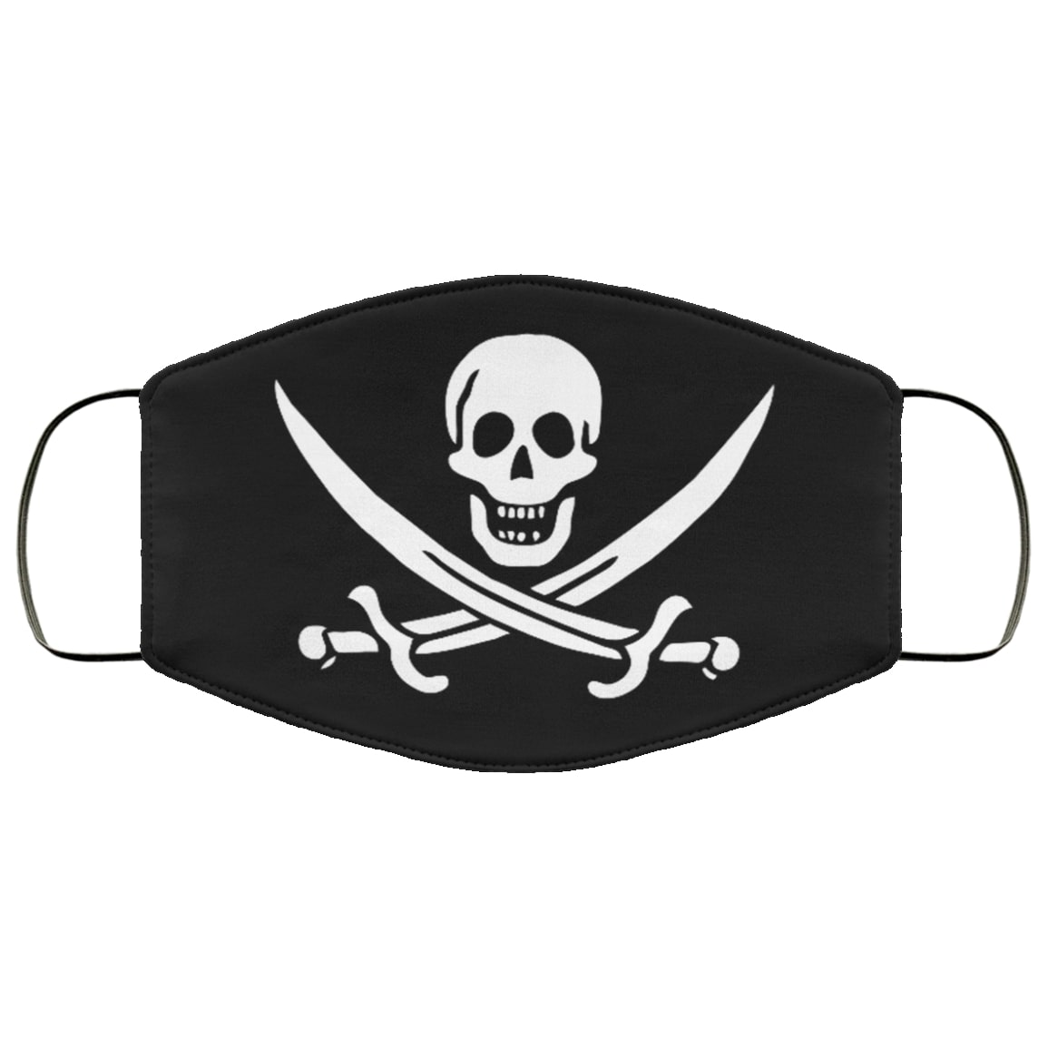 Jolly roger all over printed face mask 1
