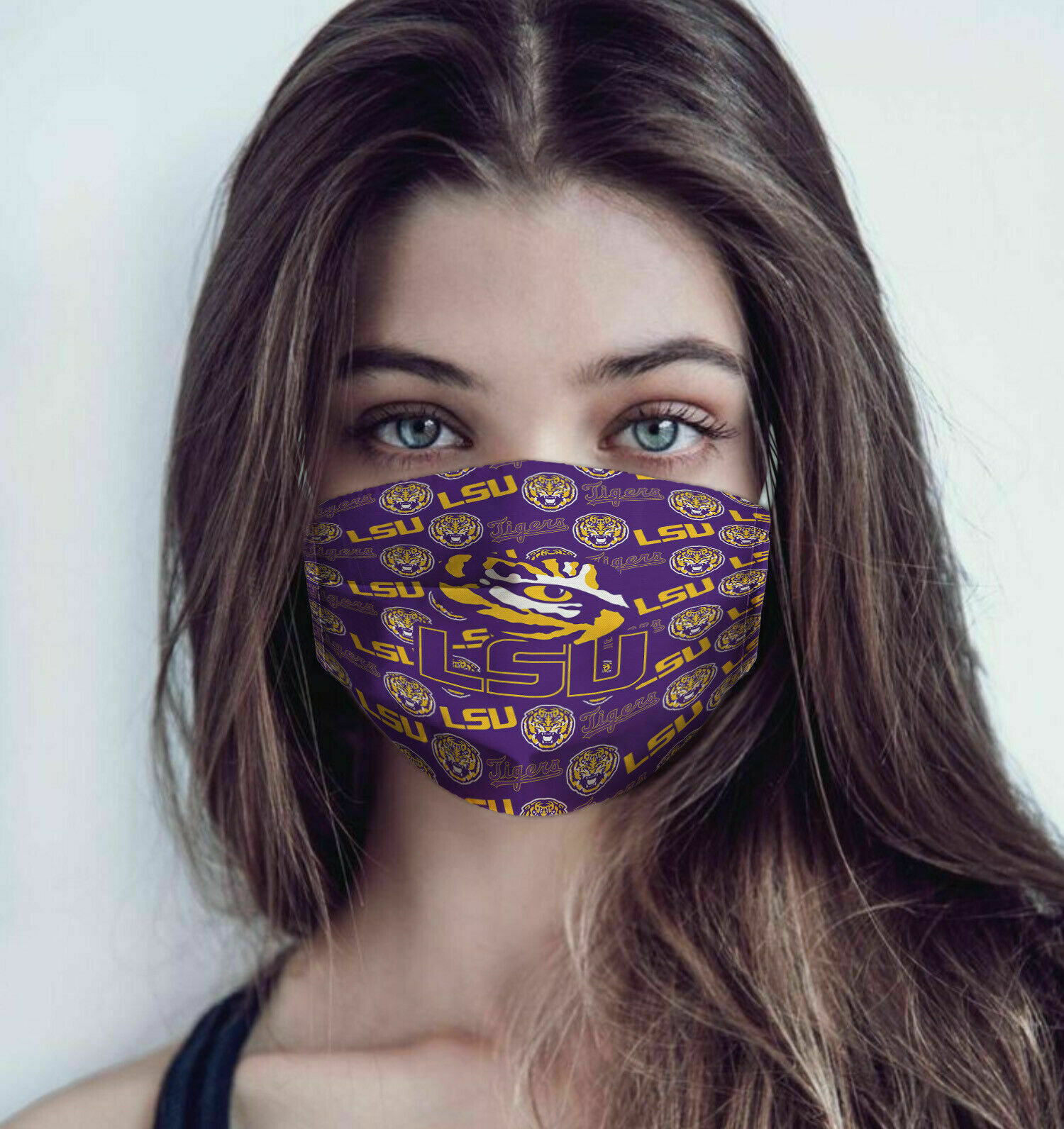 LSU tigers football anti pollution face mask 3