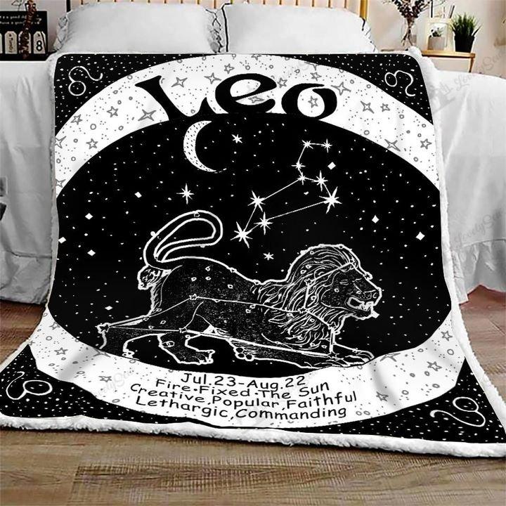 Leo zodiac symbol full printing blanket 1