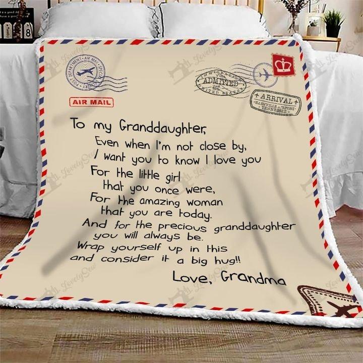 Letter to my granddaughter love grandma full printing blanket 3