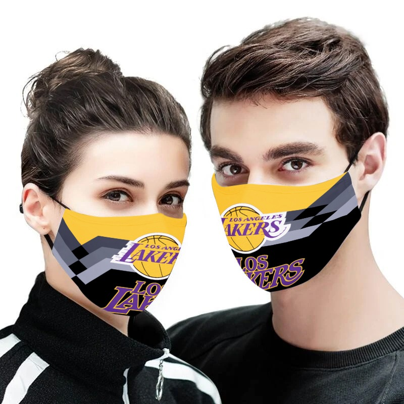 Los angeles lakers anti pollution face mask 1