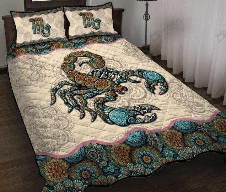Mandala scorpio horoscope full printing quilt 1