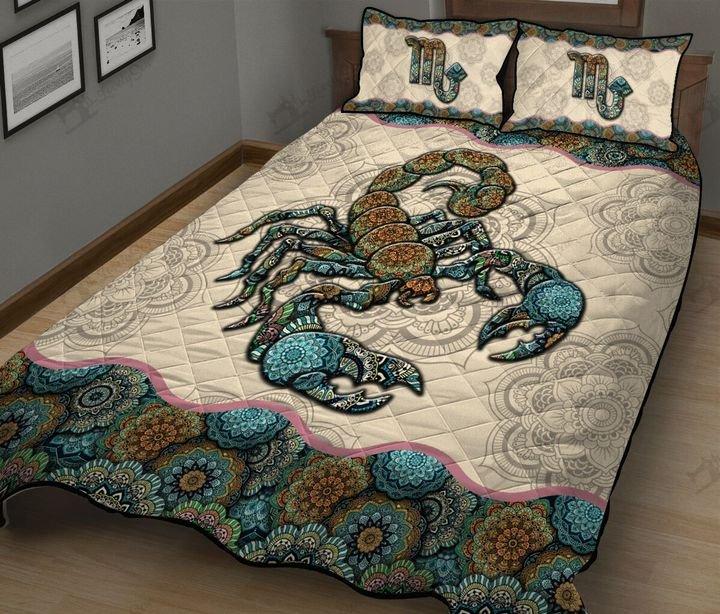 Mandala scorpio horoscope full printing quilt 4