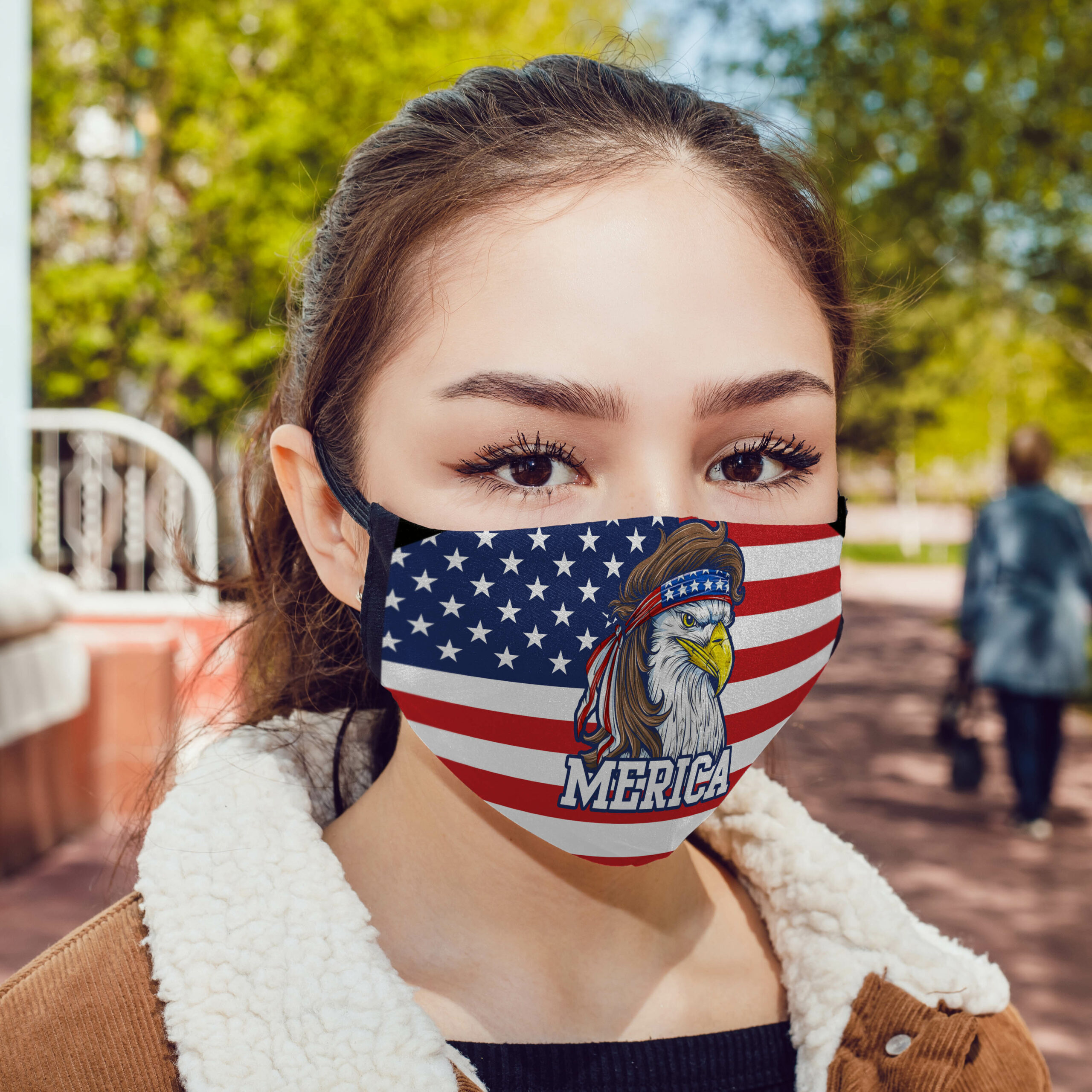 Mullet merica america flag anti pollution face mask 1
