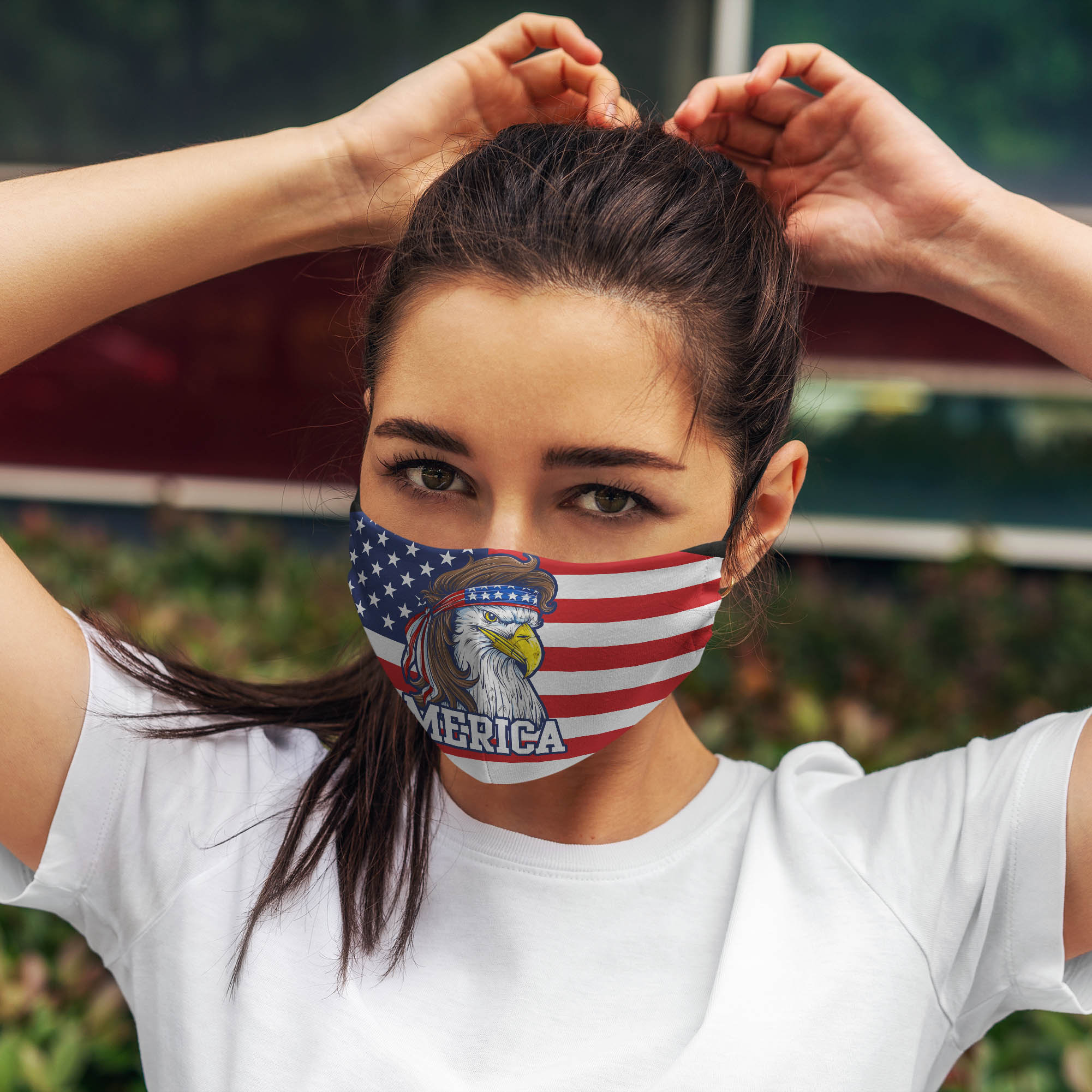 Mullet merica america flag anti pollution face mask 3