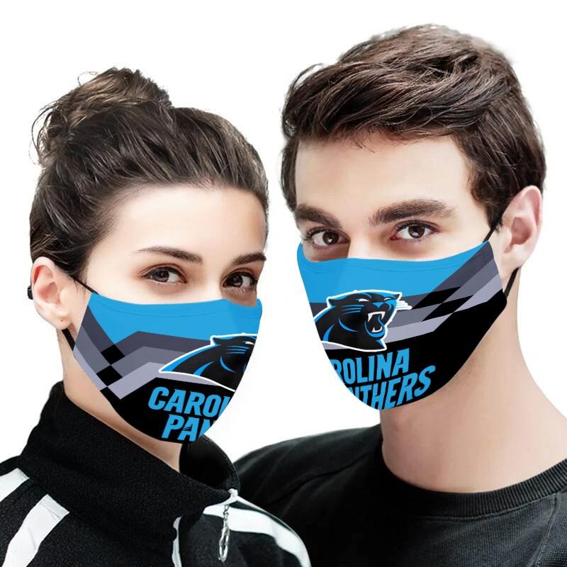 NFL carolina panthers anti pollution face mask 4