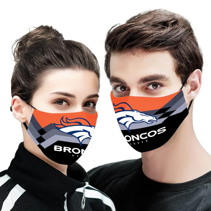 NFL denver broncos anti pollution face mask 1