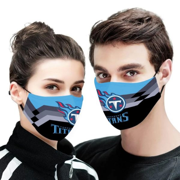 NFL tennessee titans anti pollution face mask 1