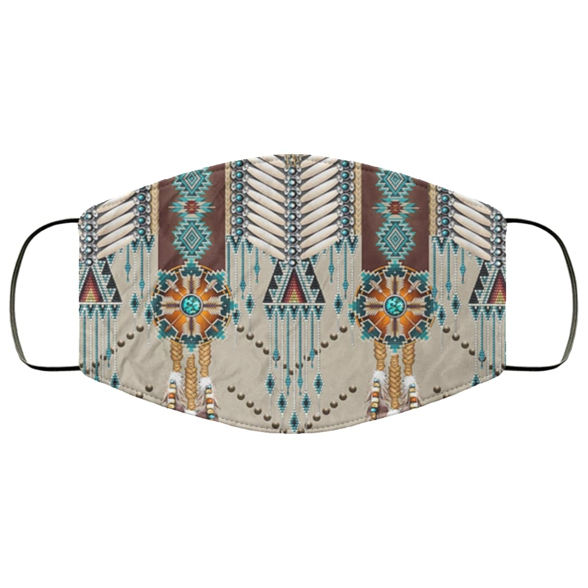 Native american culture symbol all over printed face mask 1