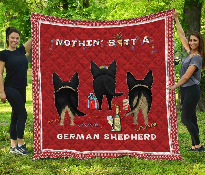 Nothin' butt a german shepherd christmas quilt 1