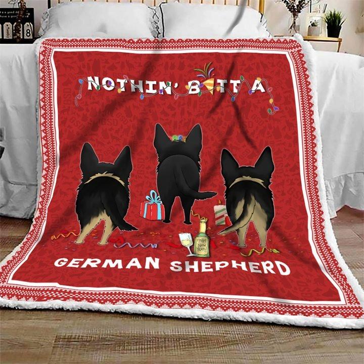 Nothing butt a german shepherd christmas blanket 3